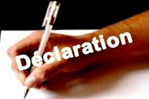 RFD, UFP, UNAD, Sawab/ Déclaration