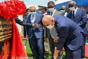 Le Président de la République pose la première pierre du système de sécurité et de surveillance de Nouakchott