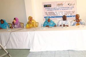 «Nous ne nous battons plus pour des quotas discriminatoires, mais nous exigeons plutôt la parité intégrale 50 – 50.», dixit Aminetou Mint Moctar