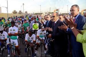 Le Président de la République donne le coup d'envoi de la deuxième édition du tour cycliste international du Sahel