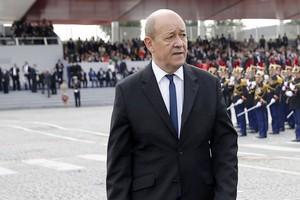 Dأ©claration de M. Jean-Yves le Drian ministre de l'Europe et des affaires أ©trangأ¨res