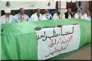 Notre unique revendication est l'exécution de Ould Mkhaitir dit le forum des Oulémas et Imams