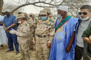 Lutte contre le Covid19 : le Chef de l'état-major des armées en visite dans le Hodh Echarghi à la frontière du Mali