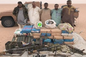 Communiqué de l'armée à propos de l'arrestation des 5 trafiquants de stupéfiants dans le Nord du pays
