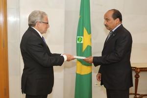 Le Président de la République reçoit les lettres de créances du nouvel ambassadeur d'Espagne