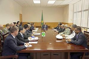 Le Président de la République reçoit des ambassadeurs des pays membres du conseil de sécurité
