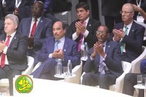 Le Président de la République assiste à l'ouverture du Forum de Paris sur la paix