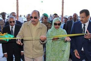 Inauguration par le président de la république du plus grand complexe commercial à Nouakchott
