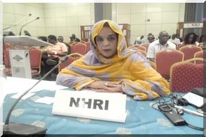 Déclaration orale de Mme Irabiha ABDEL WEDOUD, Présidente de la Commission Nationale des Droits de l'Homme de la République Islamique de Mauritanie à   la 24 éme session du Comité  pour la protection des droits de tous les travailleurs migrants et des mem