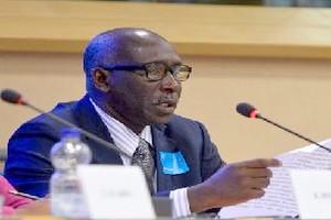Communication du représentant d'IRA-Mauritanie Hamdi Ahmed au Parlement Européen