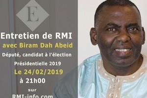 Entretien de RMI avec Le député Biram Dah Abeid, candidat à la présidentielle 2019