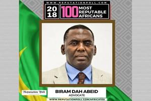 Les 100 Personnes les Réputées D'Afrique 2018: Biram Dah Abeid | Africains réputés