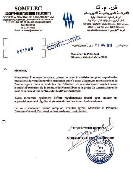 lettre de confort exemple Mauritanie : Communiqué de presse de Mohamed Bouamatou : Mesures  lettre de confort exemple
