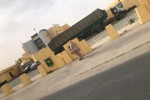 Le camion de la Direction des Douanes de Nouakchott