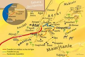 Le wali de l'Adrar visite le village de Tinimit (Aoujeft) éprouvé par les inondations