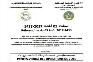 Document: le référendum demande de modifier la Constitution sans fixer des articles particuliers