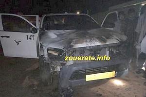Zoueirat : un véhicule d'un responsable de la SNIM incendié