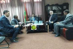 Crise bancaire :le ministre des finances reçoit le représentant de la Banque mondiale en Mauritanie