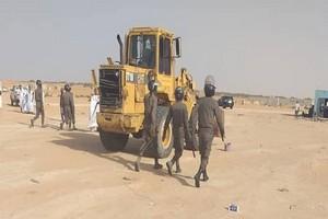 Confiscation officielle de terrains sans permis officiels