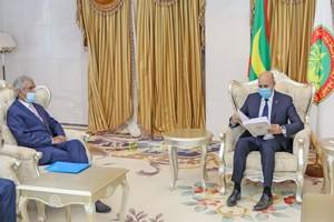 Le Président de la République reçoit un message écrit du président sahraoui