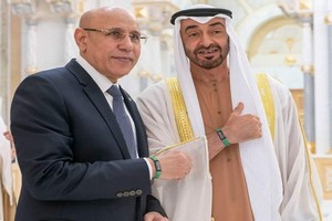 Vidéo : Mohamed ben Zayed reçoit le président mauritanien