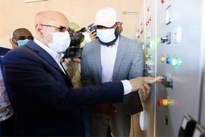 Le Président de la République pose la première pierre d'une série de projets d'infrastructures à Rosso