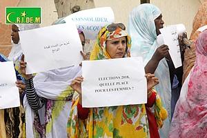 Sit-in : Les femmes réclament le respect des conventions et des lois relatives à leur participation politique