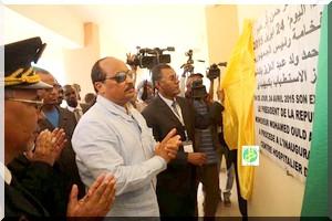 Le Président de la République inaugure le centre hospitalier de Kaédi