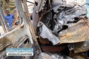 En images : Explosition d'un camion de livraison de bonbonnes de gaz au Ksar
