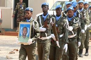 VIDEO. Les adieux de la MINUSCA au FPU mauritanien Issa Beilil