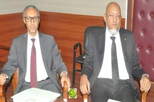 Conférence de presse conjointe des Ministres Seyidna Ali Ould Mohamed Khouna et Mohamed Ould Kembou