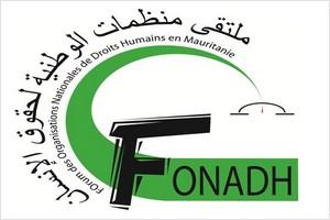 Forum des organisations nationales des droits humains en Mauritanie (FONADH): Dأ©claration