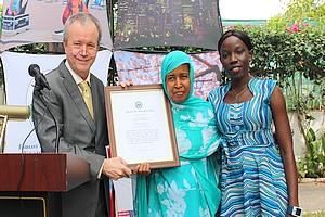 En images : l'Ambassade des US présente la candidature de Maalouma Mint Bilal Said au prix international de Femme de Courage 2018
