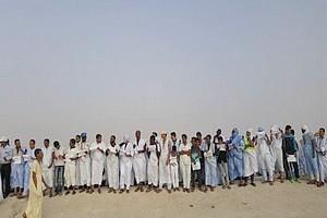 Mouvement populaire pour exiger la réparation définitive de la route Nouakchott-Rosso [PhotoReportage]