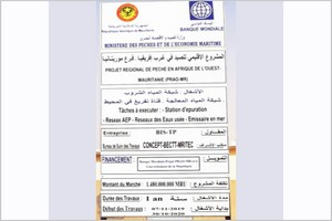 Le marché aux poissons de Nouakchott: Nouveaux investissements de 14 milliards exécutés par la société BIS-TP