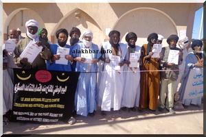 Nouakchott: Les retraités de l'armée manifestent devant la présidence