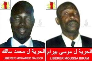 Moussa Bilal Biram et Abdallahi Matala Saleck sont libres après avoir purgé
