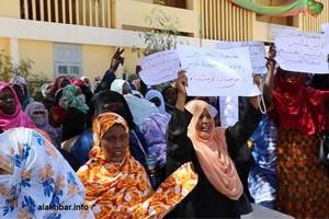 Des mères d'orphelins manifestent devant le ministère des Affaires sociales à Nouakchott (vidéo)