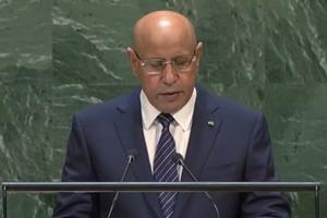 Le président Ghazouani :