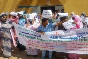 Manifestation du personnel de la santé à Zouerate