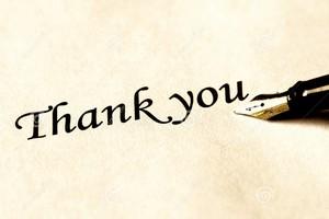 Lettre de remerciement